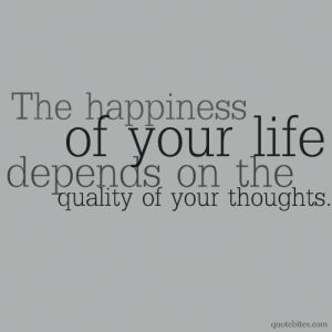 Happiness depends on...